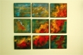 "Swan Nebula in Nine Panels, 34"" x 40"""