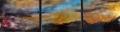 """Sunset Trio, 12"""" x 39"""""""