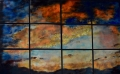 """larger sunset in 12 panels, 40"""" x 56"""""""