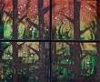 """Woodland Fireflies Quartet, 22"""" x 25"""""""
